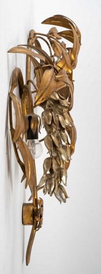 Applique des années 1960 en métal doré et argenté