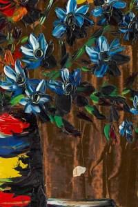 """Tableau de S. Abrys vers 1950 """"Bouquet de Campanules"""""""