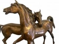 Accolade de chevaux arabes par Jules Moigniez (1835-1894)