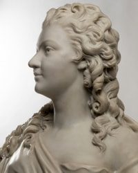 A French 19th Century White Carrara Marble Bust Of Marie Antoinette