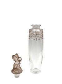 """Flacon """"Le Prestige"""" verre blanc patiné sépia de Julien VIARD pour GUELDY"""