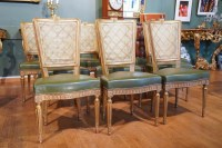 Série de 10 chaises de style Louis XVI de la Maison Jansen vers 1960