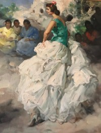 """Peinture sur toile, de Rodrigo San Clémente, """"Les gitanes"""". Réf: 359."""