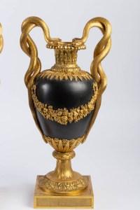 Cassolettes en bronze doré 19e Napoléon III