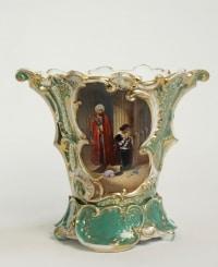 Vases de mariès en Porcelaine de Paris, céramique XIXème.