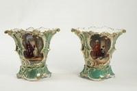 Vases de mariès en Porcelaine de Paris