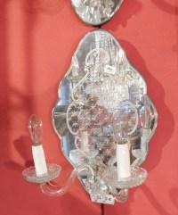 1960/70' Paire d  Appliques  En Miroir De Venise