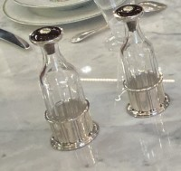 Jean E. Puiforcat Pair of Silver and Cristal Bottle