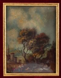Peinture sur porcelaine cadre en bronze doré 19e siècle Napoléon III
