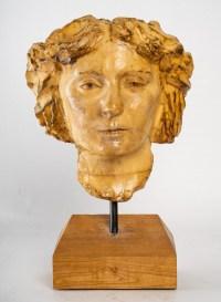 Portrait de cire de jeune femme, XXème