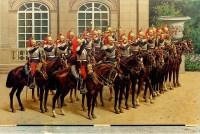 """Peinture sur toile """"Le panthéon de la guerre"""", Les cuirassiers, (1918). Ref:4"""