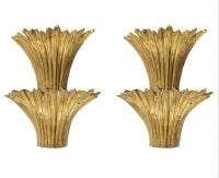1970 Paire d'Appliques en Bronze doré Modèle Cascade Maison Charles