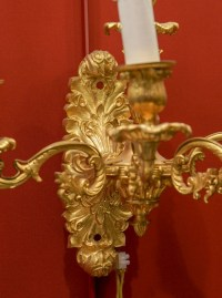 Paire d'appliques bronze bras de lumière