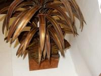 1970' Plante Eclairante en Laiton Style Maison Jansen