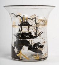 Vase Daum Décor Japonisant