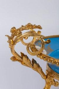 Coupe en porcelaine de Sèvres et bronze 19e siècle Napoléon III