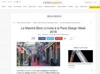 Article Paris Design Week 2018 dans Côté Maison par Iliona Seguin
