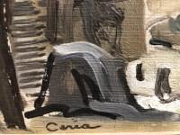 CERIA Edmond Peinture XXè siècle Paris Notre Dame Art moderne Huile sur panneau signée