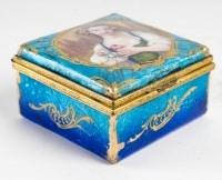 Petite boîte a bijoux art nouveau signée H. Doublet
