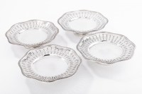 ORFÈVRE / A. AUCOC SUITE OF FOUR CUPS IN SOLID SILVER XIXth