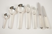"Jean Puiforcat ""Bayonne"" Flatware , circa 1924 :92 pieces"