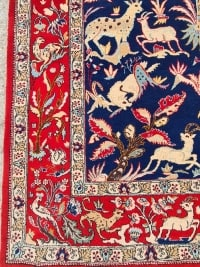Grand Tapis en Laine Kork Ghoum - Perse Vers 1950
