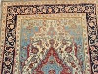 Tapis Kachan Mortachem - Laine Kork D'agneau - Iran 19ème Siècle