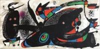 MIRO Joan Escultor Lithographie en couleur signée