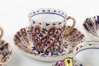 Huit tasses à café torsadées Vienne fin 19e siècle