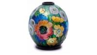 Camille FAURE (1874-1956) - Limoges Vase emaillé