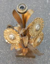 1970' Lampe aux Tournesols Style Maison Jansen