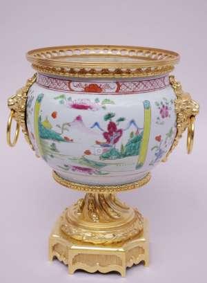 Coupe en porcelaine du Canton du XVIIIe siècle