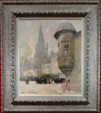 HERVE Jules René Peinture 20è siècle L'échauguette Huile sur toile signée