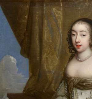 Charles Beaubrun (1604 - 1694): Portrait of Henrietta of England, duchess of Orléans.