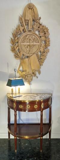 Rare grand panneau Franc-maçonnique du 1er empire.