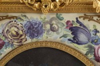 Importante peinture encadrée en porcelaine et bronze