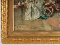 Aquarelle sur papier signée, Bernard Louis Boriohe , Paris 1905