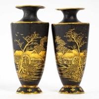 Paire de vases en fer - atelier de Komaï