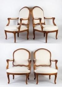 Suite de 4 Fauteuils de style Louis XV du 19e siècle