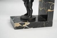Paire de serre-livres Art Déco en bronze signe Becquerel fondeur Etling