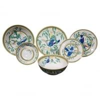 """Hermes, Porcelaine  """"TOUCANS"""" Service 50 pieces"""