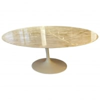 "KNOLL & Eero Saarinen : Table Ovale ""Tulip"" 198  cm Calacatto Oro Verde"