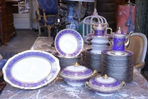 Service de table porcelaine de paris - Décor de Sèvre ancien