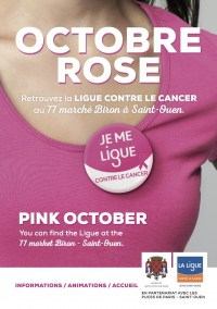 Octobre Rose - Retrouvez la Ligue contre le Cancer au Marché Biron les 14 et 15 octobre