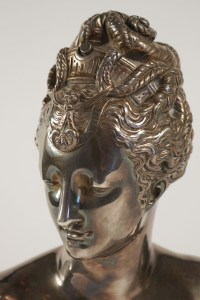 Buste Of Diane In Bronze And Silver. Beginning Of The 20th Century. Style Louis XV.