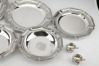 Orfèvre BOIN TABURET - Ensemble de plats en argent et salerons Circa XIXè