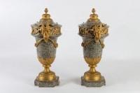 Paire de cassolettes du 19e siècle