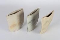 Val BARRY - Vases méplats à décor de paysage années80