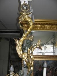 Lustre en bronze doré signé LUPPENS du XIXème Siècle. Réf: 208
