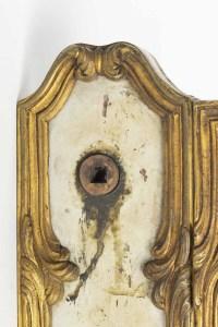 Serrure de porte et sa clé, grande décoration, 19e siècle